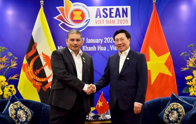 Phó Thủ Tướng Phạm Bình Minh Tiếp Bộ Trưởng Ngoại Giao Brunei Dato Erywan Pehin Yusof