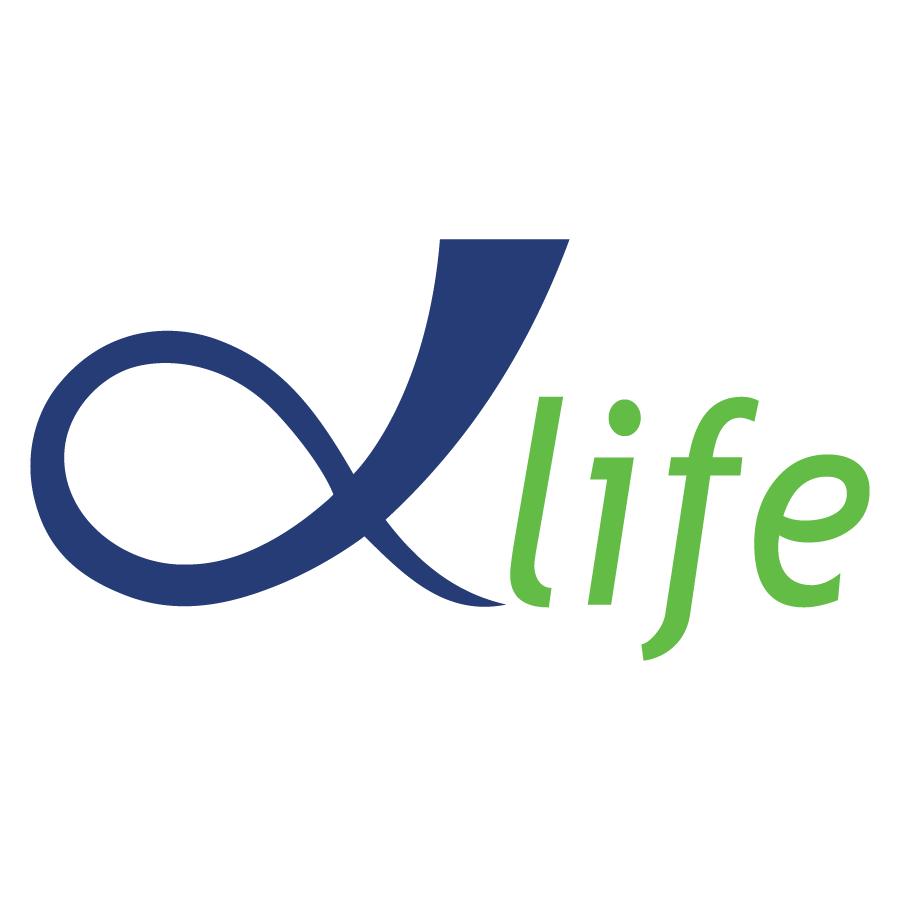 Logo Alpha Life - Tương lai của bạn là sứ mạng của chúng tôi