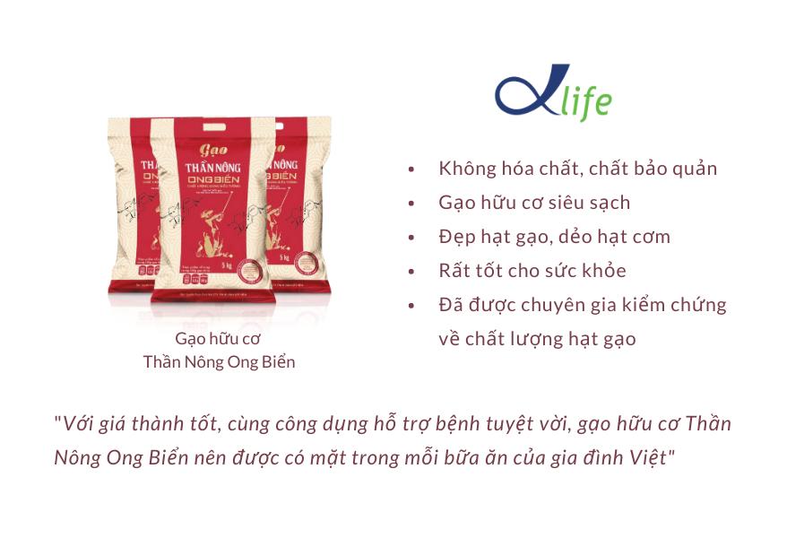 Gạo Hữu Cơ Thần Nông Ong Biển Nên được Sử Dụng Cho Bữa Cơm Hàng Ngày Của Gia đình