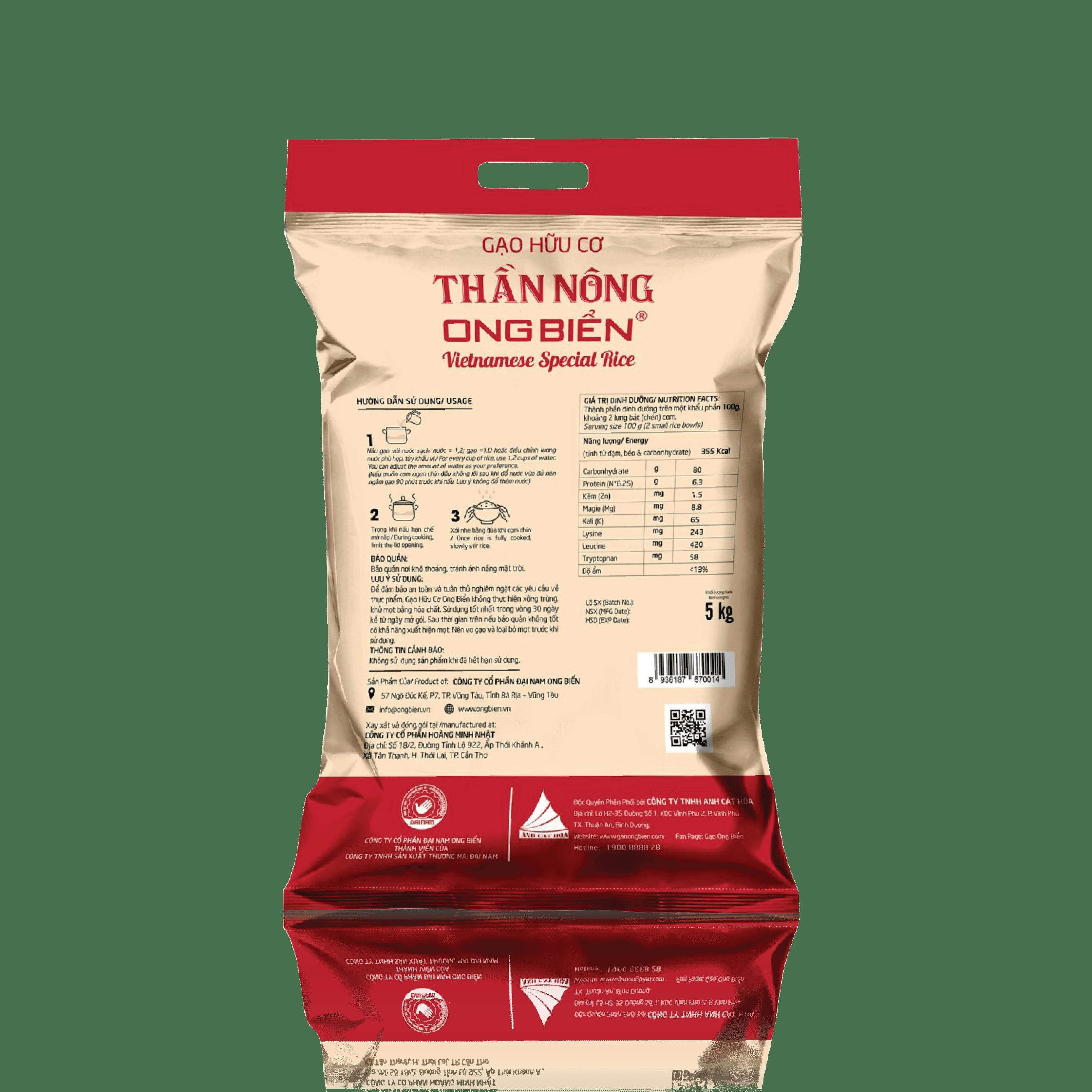 Gạo Ong Biển hữu cơ